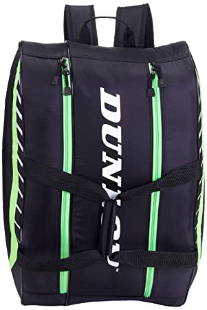 DUNLOP PLAY BLACK GREEN PADEL BAG  Amazon.co.uk  Sports   Outdoors 29d6059acf7d2