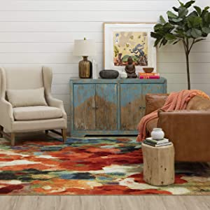 "Mohawk Home Colorful Garden Area Rug, Multi, 3' 9"""" x5'"