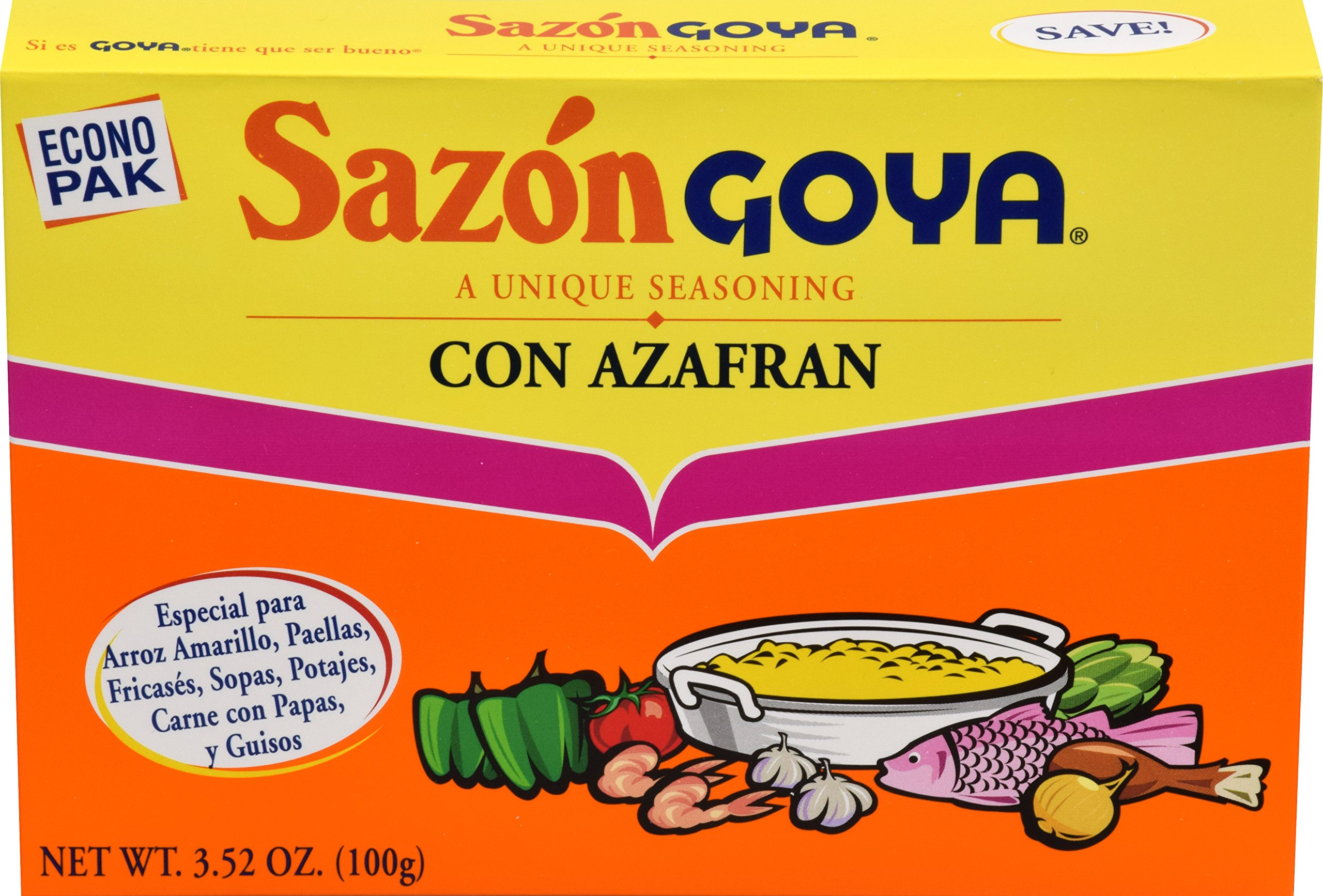 Goya Foods Sazon, Azafran, 3.52 Ounce (Pack of 18)