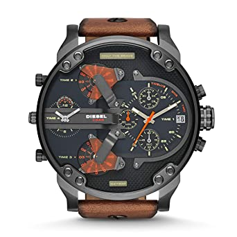 4e4555d8f Diesel Mr. Daddy for Men - Analog Leather Band Watch - DZ7332: Amazon.ae
