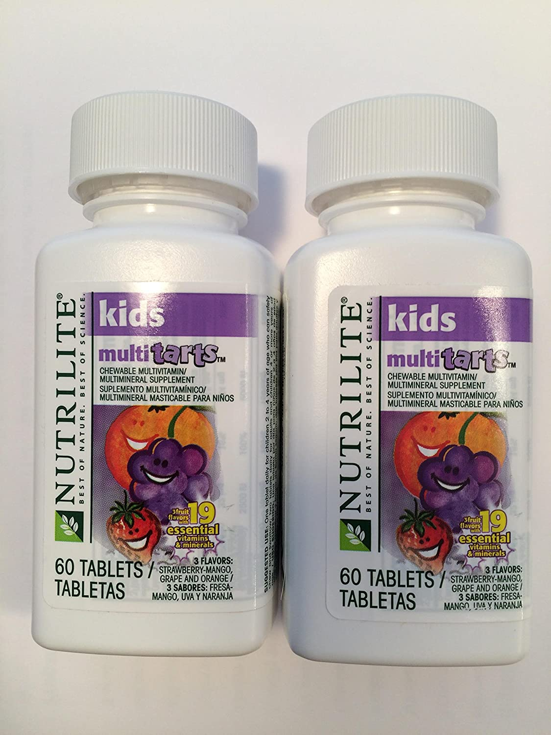 Amway Nutrilite Kids Multitarts Chewable Multivitin, 60 Tablets, Pack of 2