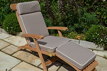 Luxury Garden Steamer Chair Cushion With Premium Filling And Fabric    Cushion Only   Taupe (