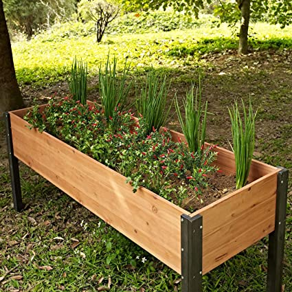 Amazon.com: StarSun Depot Elevated Outdoor Raised Garden Bed ... on raised patio planters, backyard greenhouse home depot, planter boxes home depot, garden home depot, walkways home depot, fencing home depot, decking home depot, raised panel wainscoting home depot, patios home depot, cedar planks home depot,