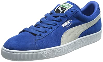 00ffd8ae734c Puma Men s Suede Classic + Strong Blue-White-White Leather Running Shoes -  13UK