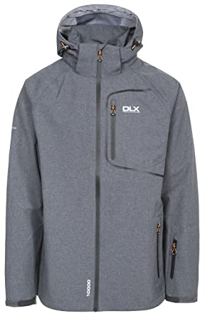 e25eb680e707 Trespass Men Caspar II Waterproof Rain/Outdoor Jacket with Removable Hood -  Dark Grey Marl