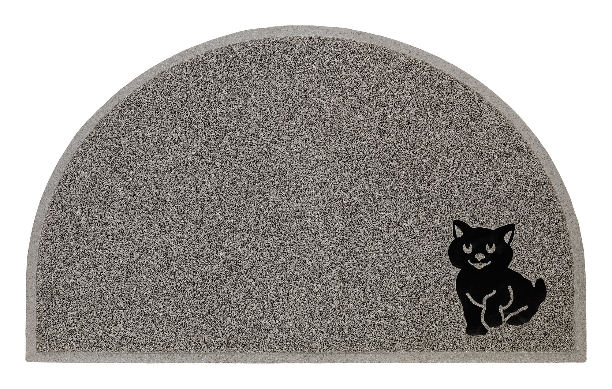 Nature's Cat Litter Mat BPA Free Extra Large Half Moon Design - Grey by Nature's Secret Remedy