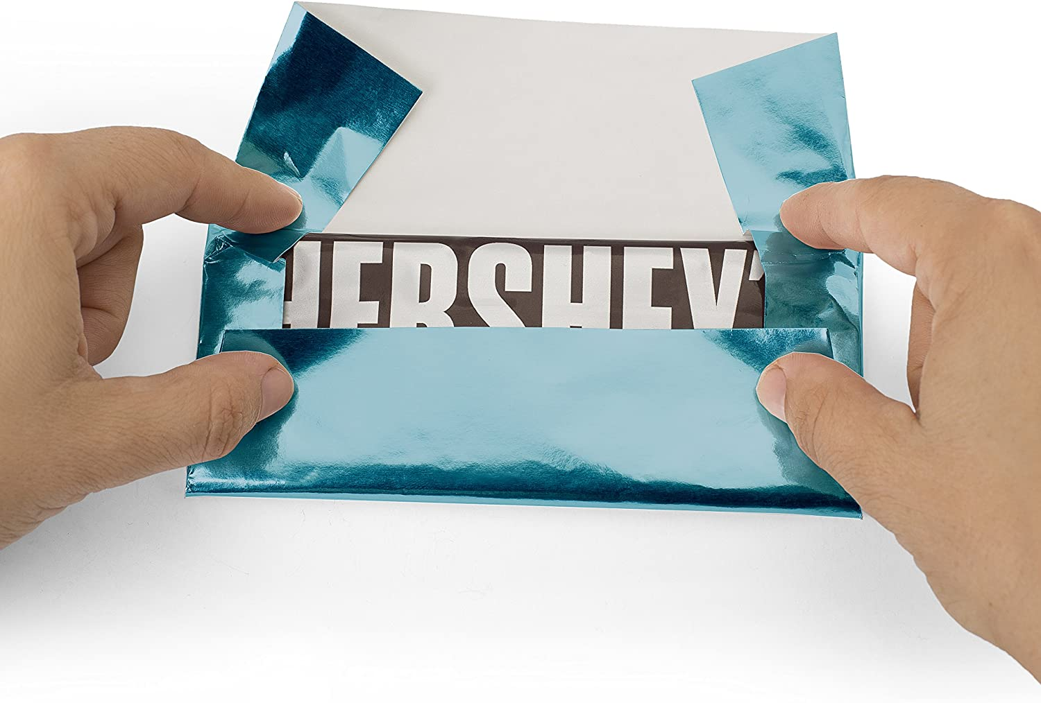Baby Blue Foil Wrapper Fits on 1.55 oz Hershey Candy Bars Pack of 25 Candy Bar Wrappers with Paper Backing 6x 7.5