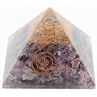 Aatm Collection Améthyste énergisée pyramidale Reiki Orgonite «Pierre de la spiritualité et de la tranquillité d'esprit»