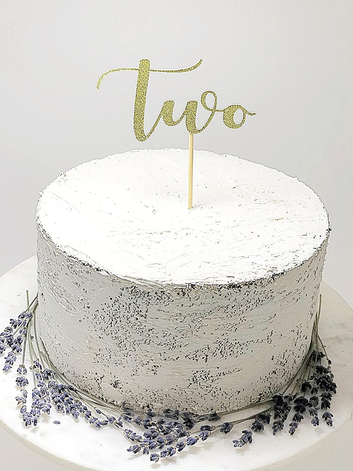 Amazon Second Birthday Cake Topper 2nd Decor Smash Kid Party Supplies Glitter Handmade