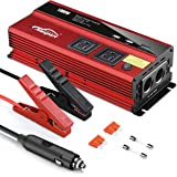 Maxpart 1000W Power Inverter Truck/RV Inverter 12V DC to 110V AC Converter with Dual AC Outlets 2.4A USB and Dual 12V Car Cig
