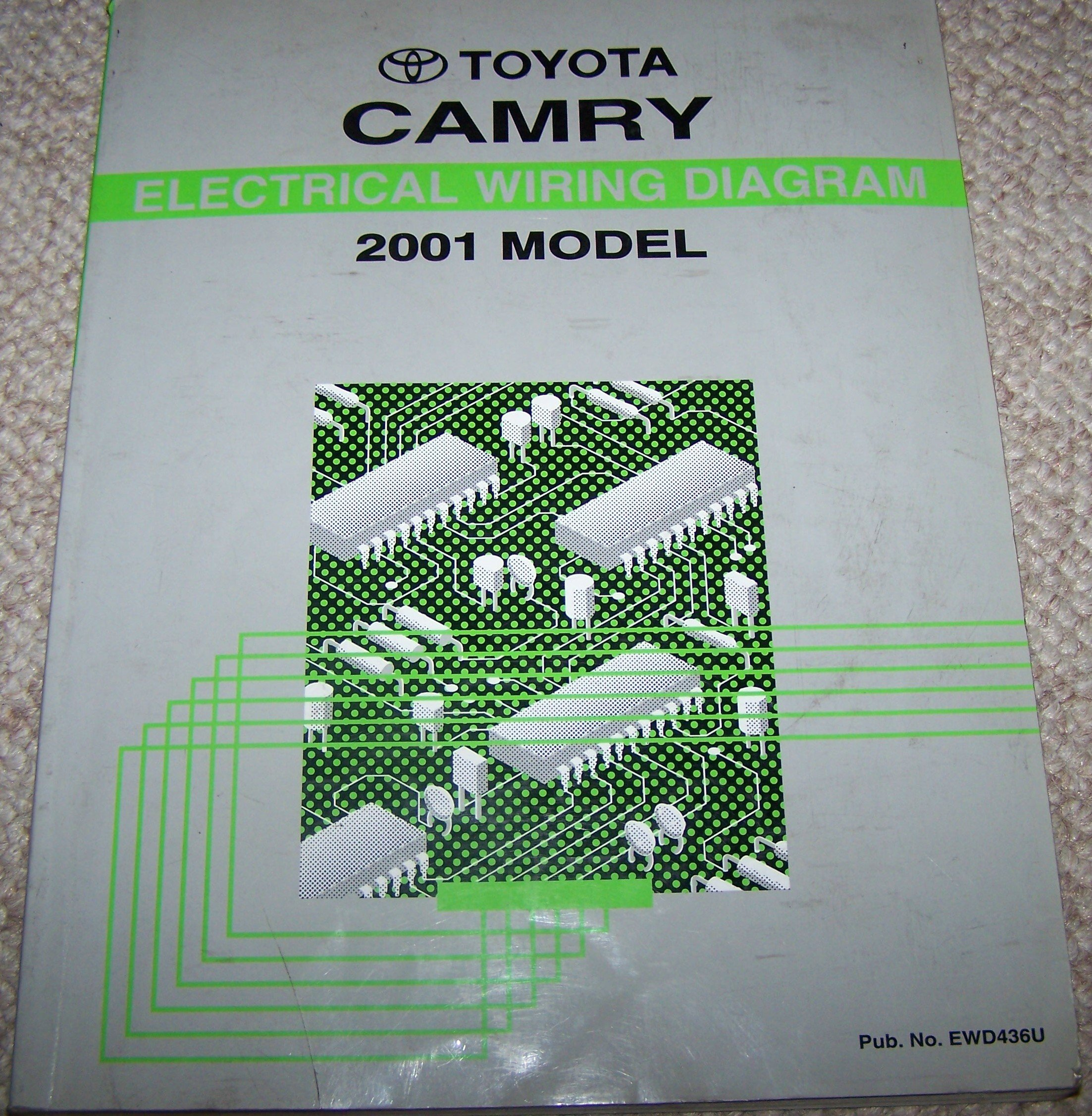 2001 toyota camry electrical wiring diagram manual paperback – 2000