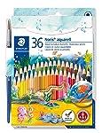Lápis de Cor Aquarelável Noris 36 Cores Staedtler, 36 Cores Sortidas, pacote de 36