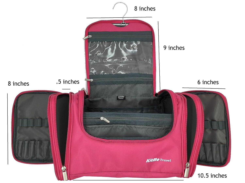 d97893a0e8 Amazon.com  KitMo Travel - extra large Toiletry Organizer Bag  Travel  Cosmetic Bag  Gym Bag - PINK  Sports   Outdoors
