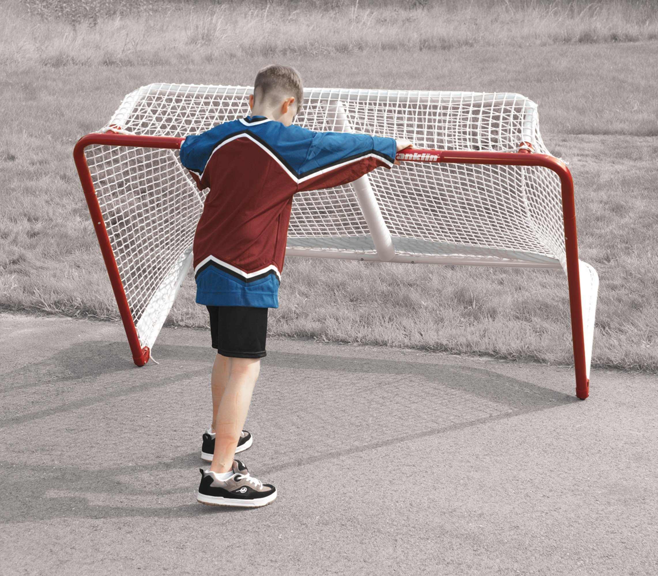 Franklin Sports NHL Championship Steel Street Roller/Hockey Goal (48-Inch x 72-Inch) by Franklin Sports (Image #4)