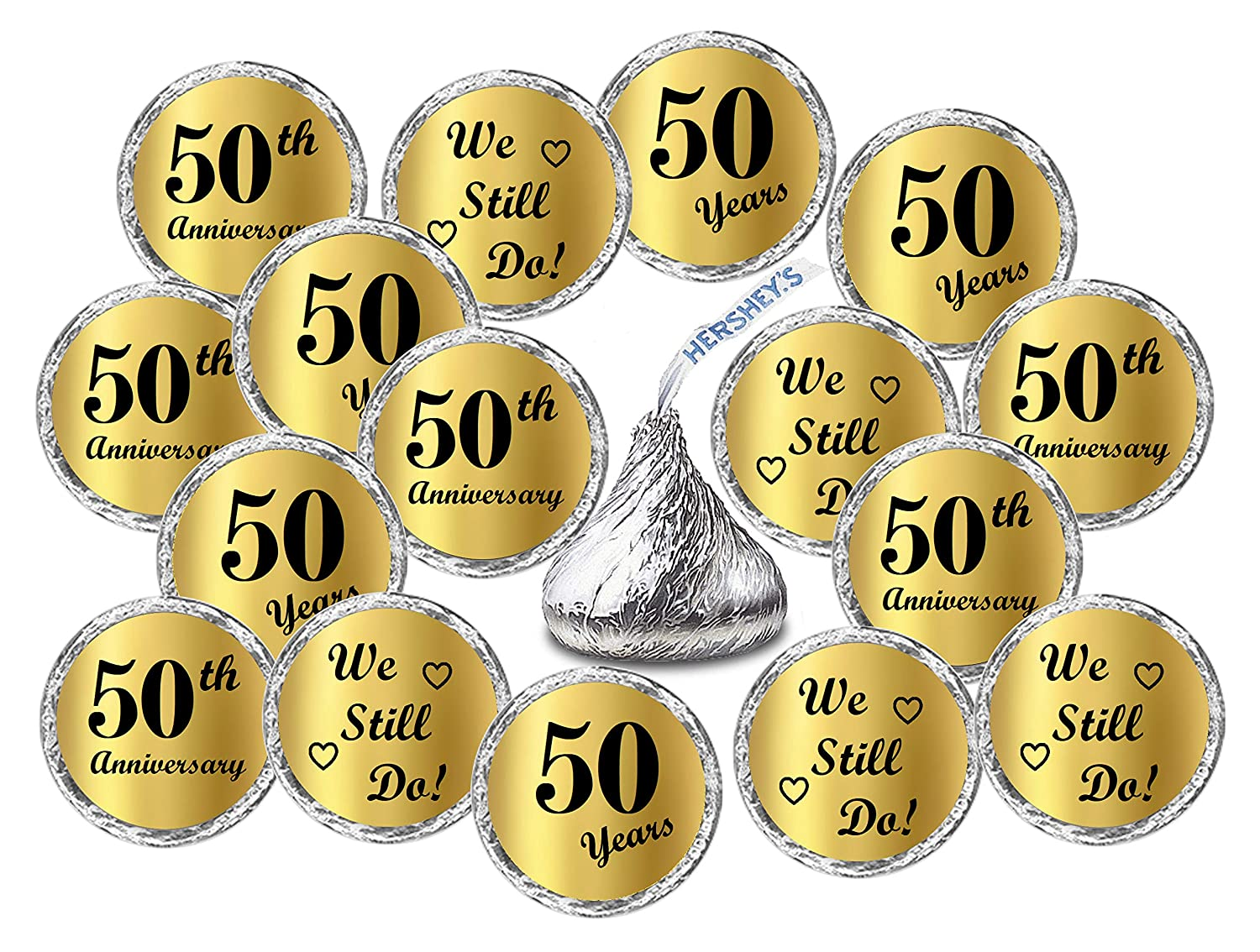 Hersheys Kisses Party Favors Decor Hershey/'s Kisses Party Favors Decor RokAPary Chocolate Drops Labels Stickers for 50th Wedding Anniversary Gold Foil 50th Anniversary Kisses Stickers, Set of 216