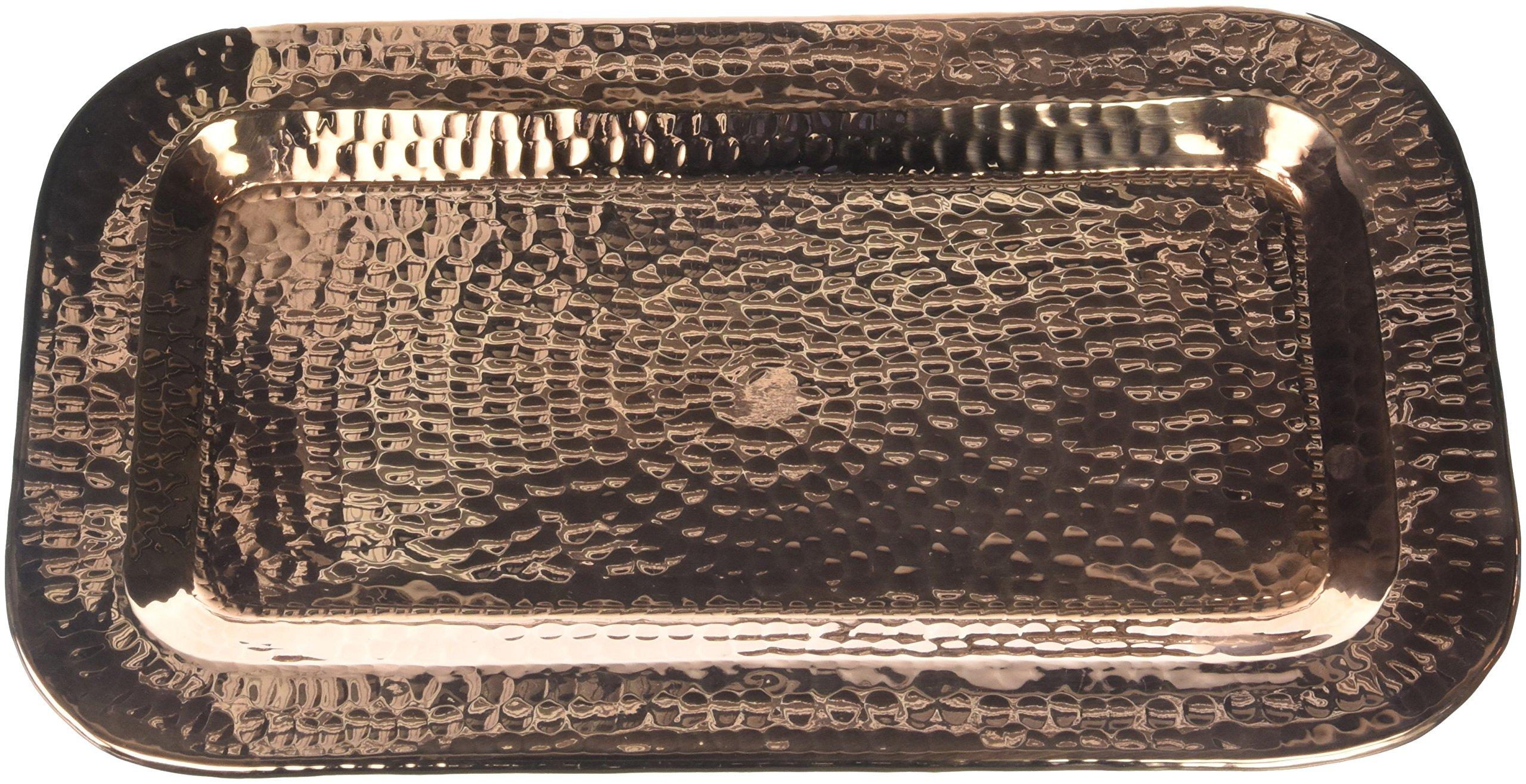 Sertodo Copper, Charolita Tray, Hand Hammered 100% Pure Copper