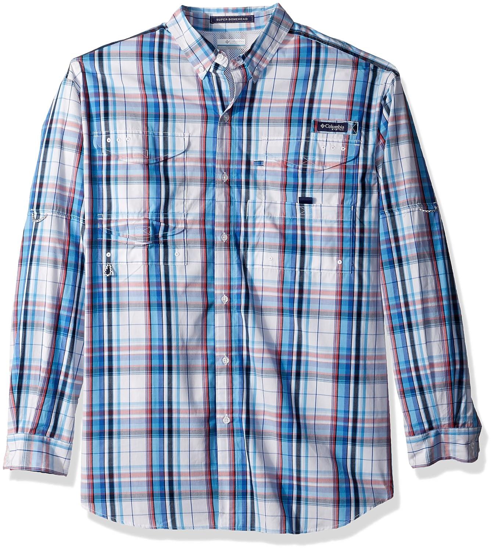 4da1870d00a Amazon.com: Columbia Men's Super Bonehead Classic Long Sleeve Big/Tall Shirt,  Vivid Blue Plaid, 2X: Clothing