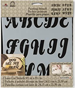FolkArt Painting Stencil, 8.5 by 9.5-Inch, Alphabet Beverly