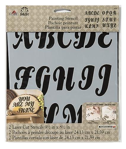 FolkArt 30494 7 x 10 Background Stencils Value Pack