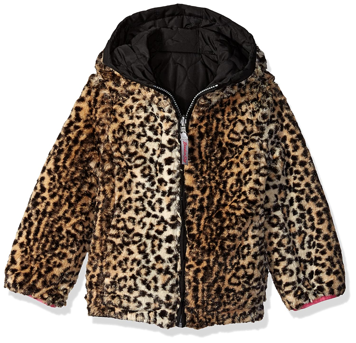 LONDON FOG Girls Reversible Quilted Midweight Jacket
