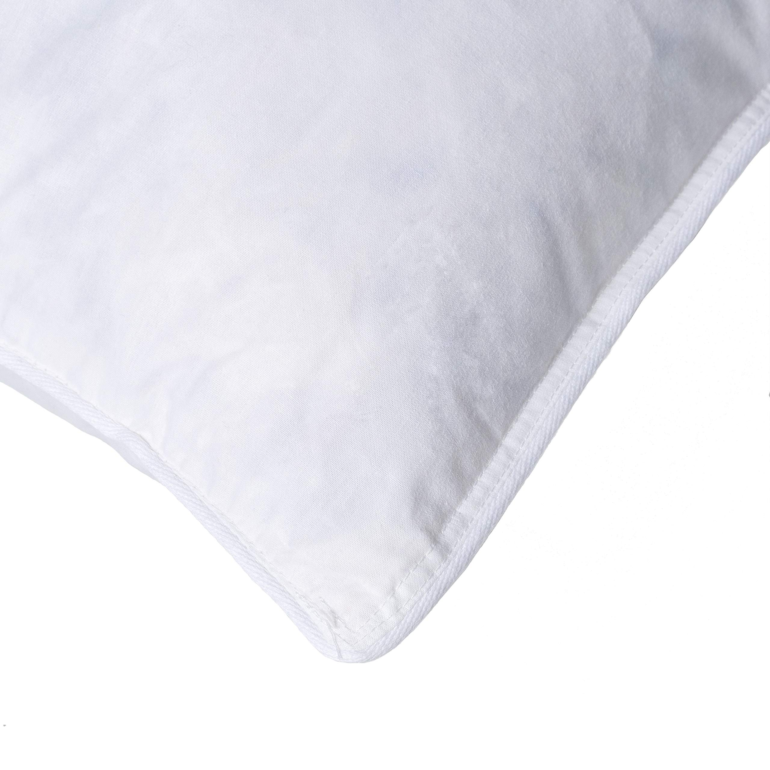 Hotel Madison TruLoft Medium Firm Feather Pillow (Set of 4) King by Hotel Madison (Image #4)