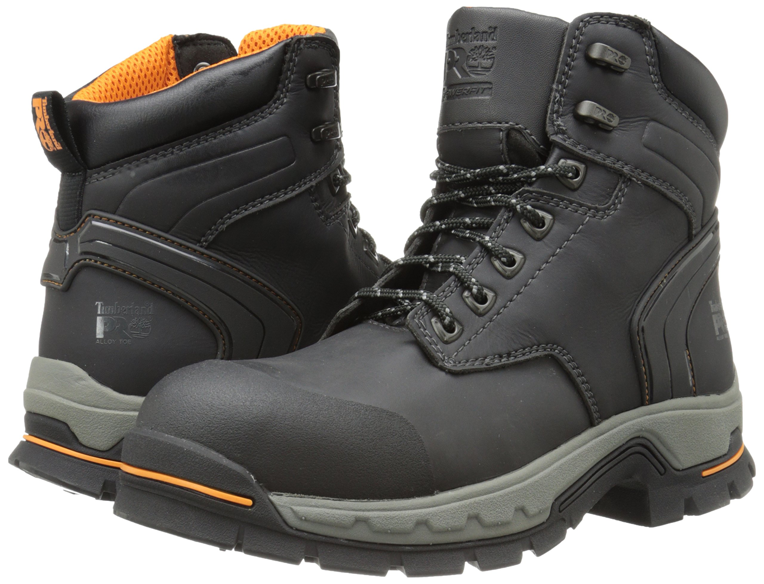 Timberland PRO Men's 6 Inch Stockdale Grip Max Alloy Toe Work and Hunt Boot, Black Microfiber, 5.5 M US by Timberland PRO (Image #6)