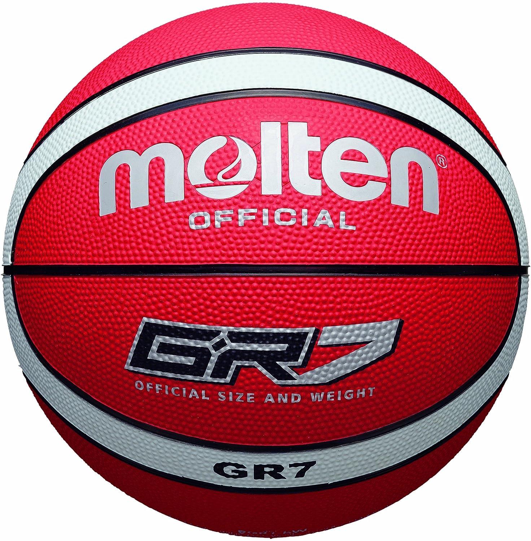 MOLTEN - Balón de Baloncesto Rojo/Blanco Talla:7: Amazon.es ...