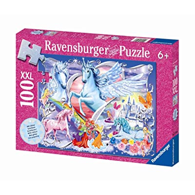 Ravensburger Land of the Fairies - 100 Piece Glitter Puzzle: Toys & Games [5Bkhe1207075]
