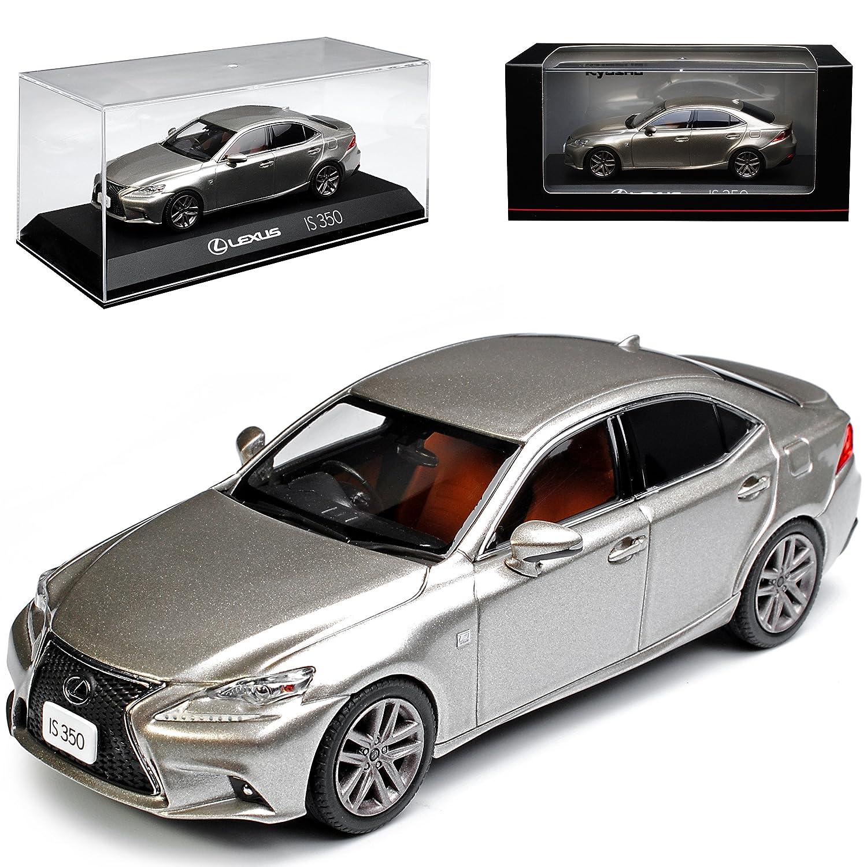 Kyosho Lexus is XE3 350 F-Sport Limousine Silber Sonic Titanium 3. Generation Ab 2013 1/43 Modell Auto mit individiuellem Wunschkennzeichen