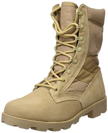 45a9991d3be US Army Desert Combat Jungle Patrol Mens Boots Tan Suede Leather Khaki