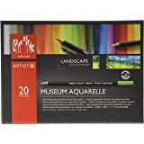 Caran D'Ache Museum Aquarelle Landscape Pencils - Assorted Colours (Pack of 20)
