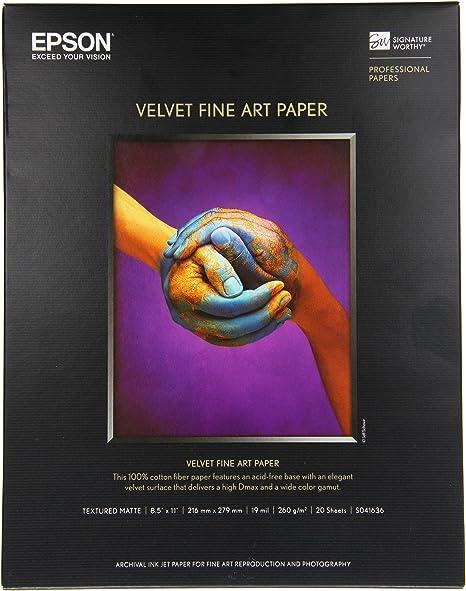 Amazon.com: Epson. Papel de fotografía Velvet Fine ...