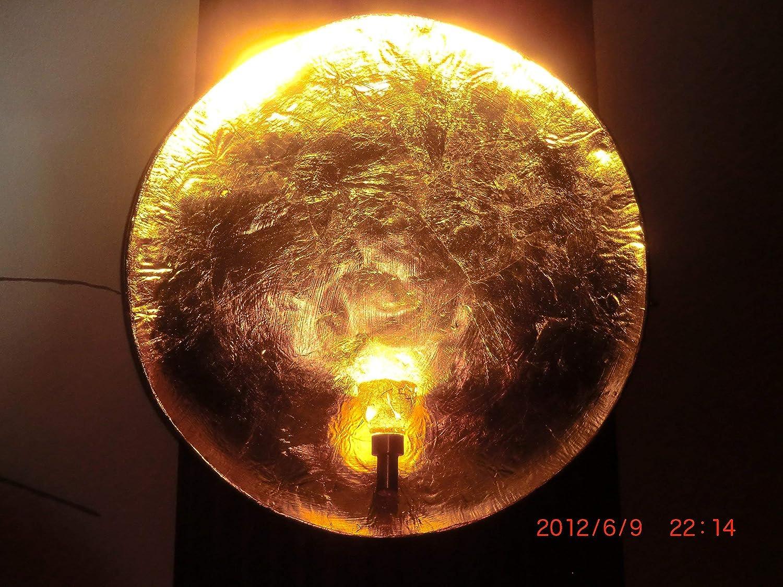 Gold 62 Wandlampe gro/ß XL rund innen modern Schlafzimmer Flur Treppenhaus Wandbeleuchtung Design Wandleuchte Diego