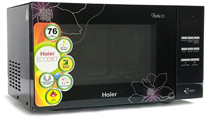 Haier 23 L Convection Microwave Oven (HIL2301CBSB, Black)