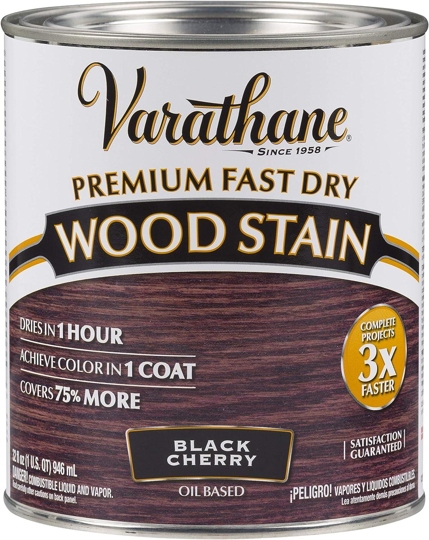 Varathane 262009 Premium Fast Dry Wood Stain, Quart, Black Cherry