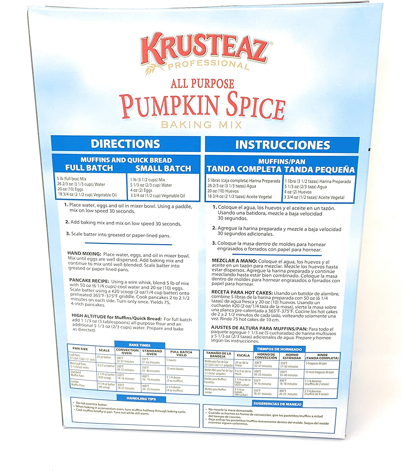 Amazon.com : Krusteaz All Purpose Pumpkin Spice Baking Mix 5 Pound Box : Grocery & Gourmet Food
