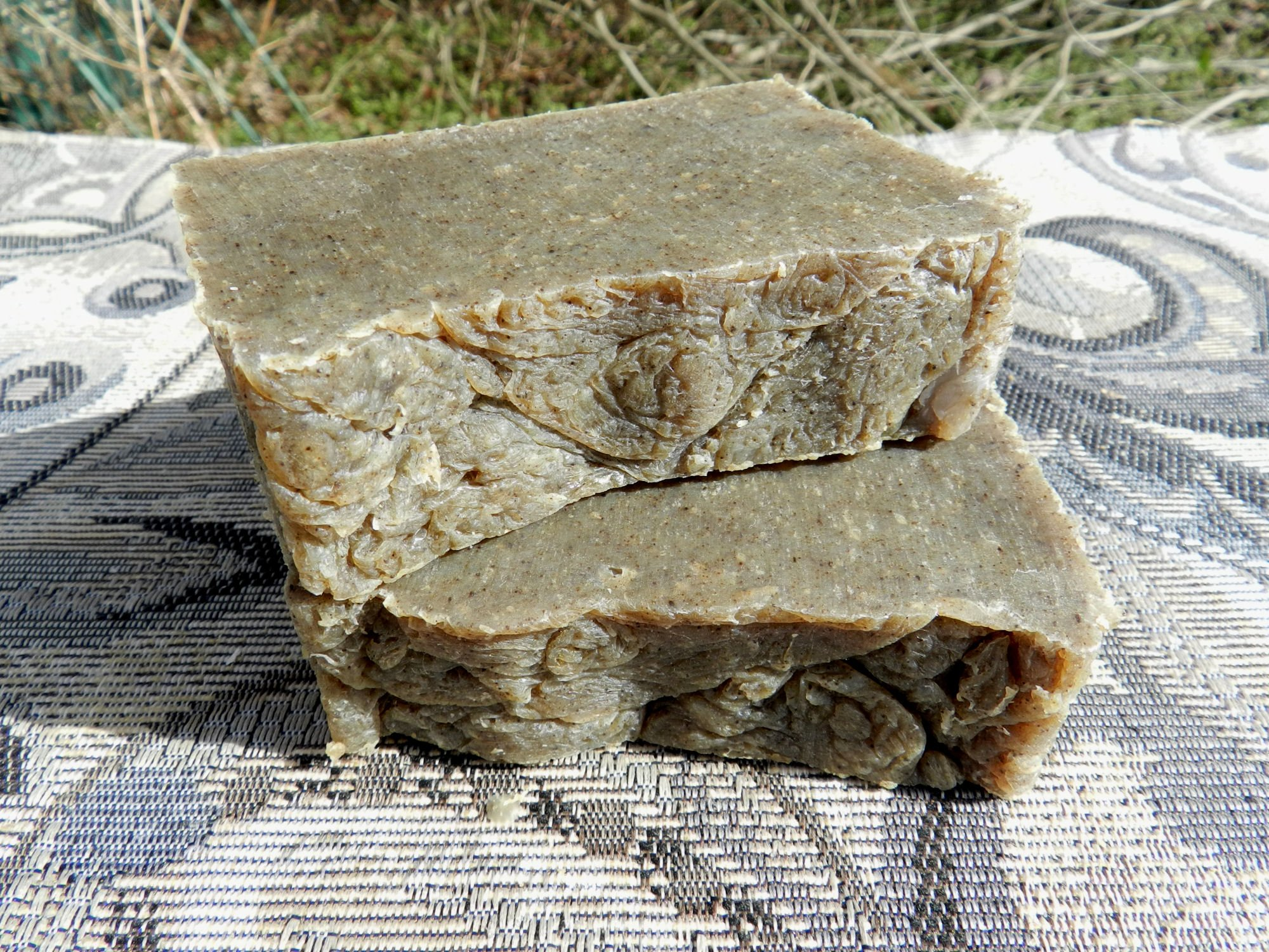 Two Solid Shampoo Bars with Rosemary Tea Tree and Dead Sea Salt for Oily or Greasy Hair Types with Essential Oils