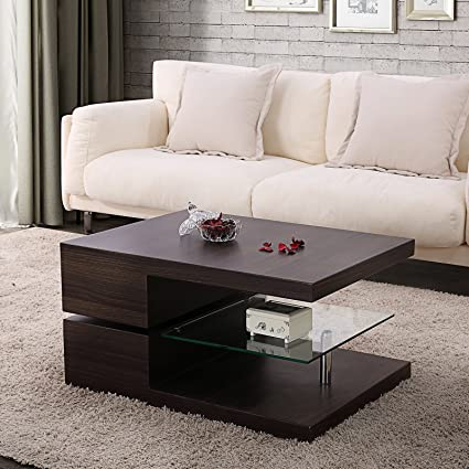 Ordinaire Mecor Swivel Rectangle Coffee Table, Modern Side End Table With 360 Degree  Rotating Top,