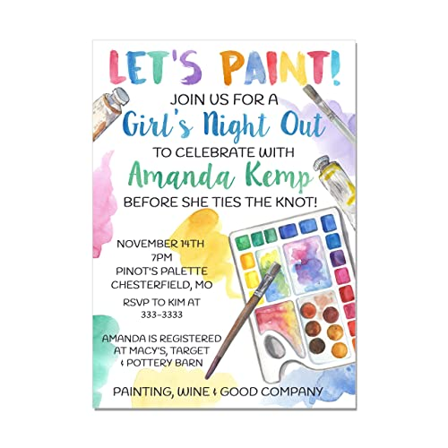 Amazon Adult Painting Paint And Sip Bridal Shower Or Birthday