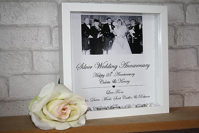 Silver Wedding Anniversary Gift Silver Wedding Frame