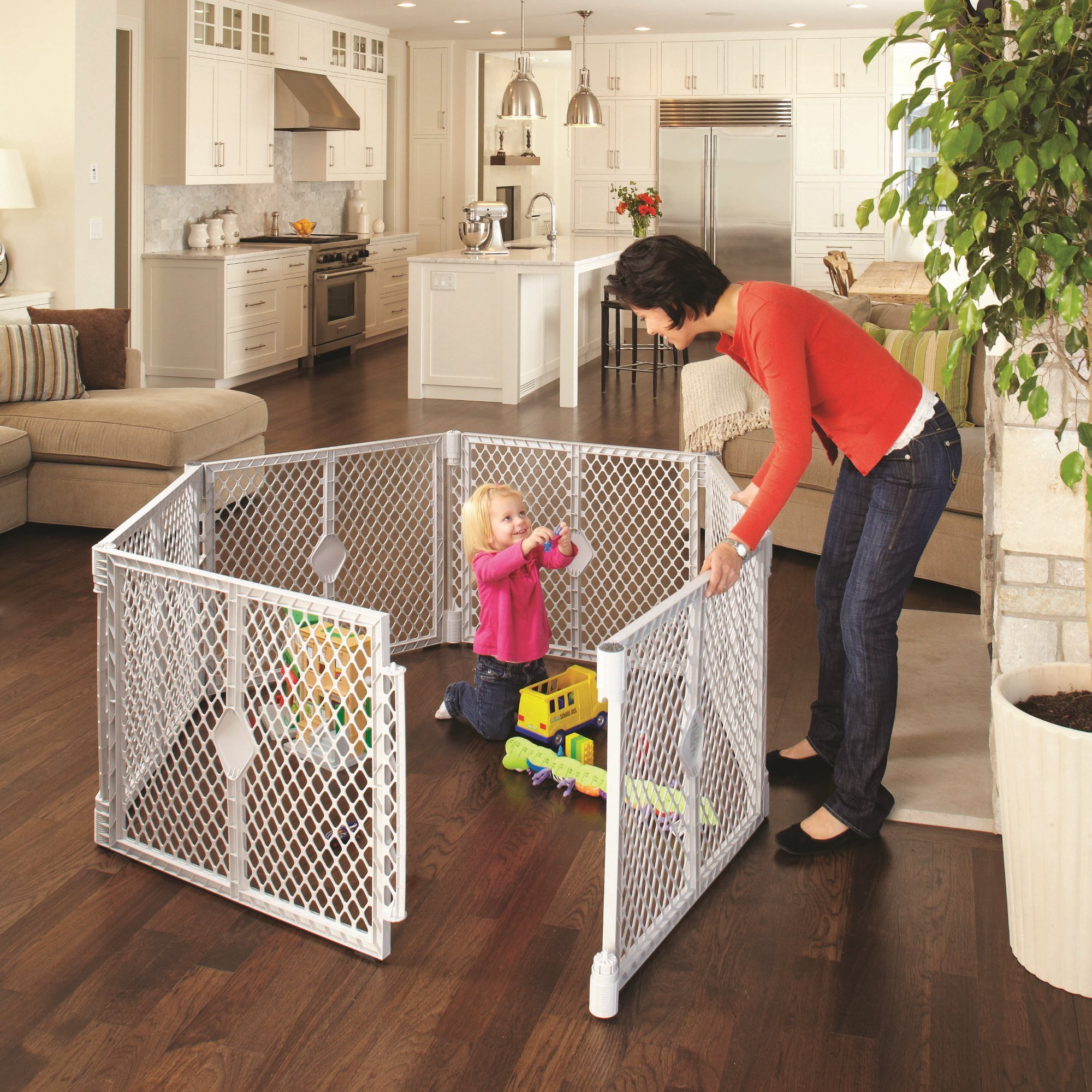 North States SUPERYARD XT Baby/Pet Gate & Play Yard by North States (Image #3)
