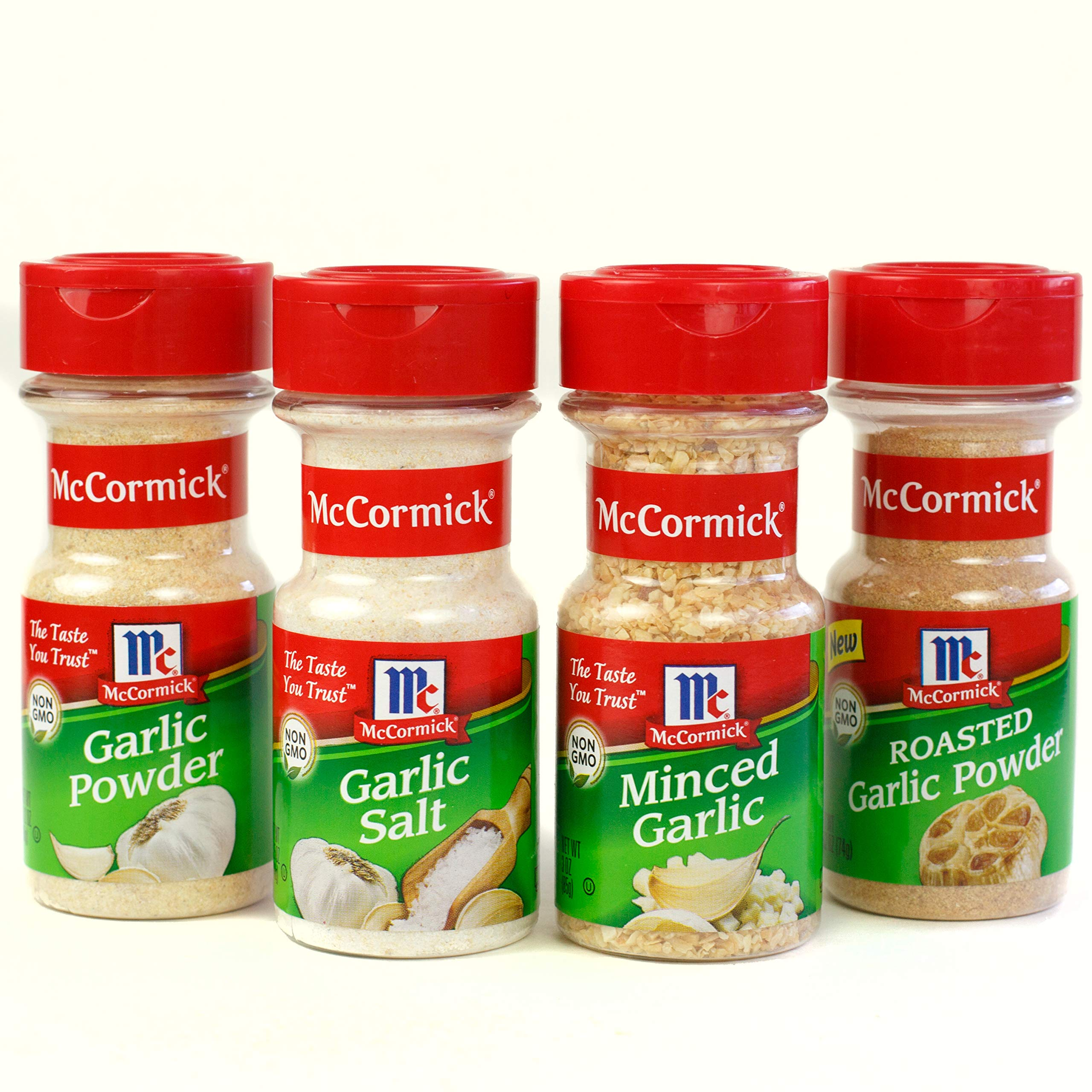 McCormick Garlic Spice Variety Pack (Garlic Powder, Minced Garlic, Roasted Garlic Powder, Garlic Salt), 4 Count