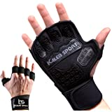 Ventilated Weight Lifting Gloves with Special Inserts for a Stronger Grip | Integrated Wrist Wraps | Full Palm Protection | Great for Pull-Ups, Cross-Training, Fitness & Powerlifting | Men & Women