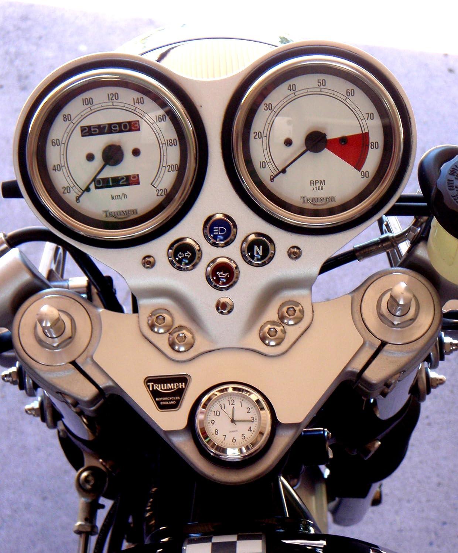 ou Thruxton Barre dacier tige /Écrou Housse avec horloge Fabrication britannique lisse Triumph Bonneville/®