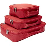 Genius Pack Compression Home Organizers - Set of 3 (Red)