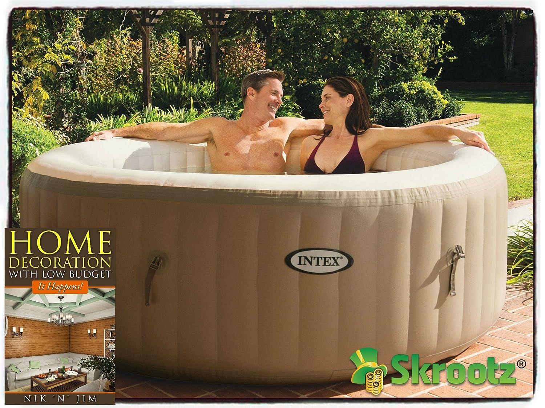 Amazon.com : Hot Tub Spa Intex 4-person Inflatable Portable Heated ...