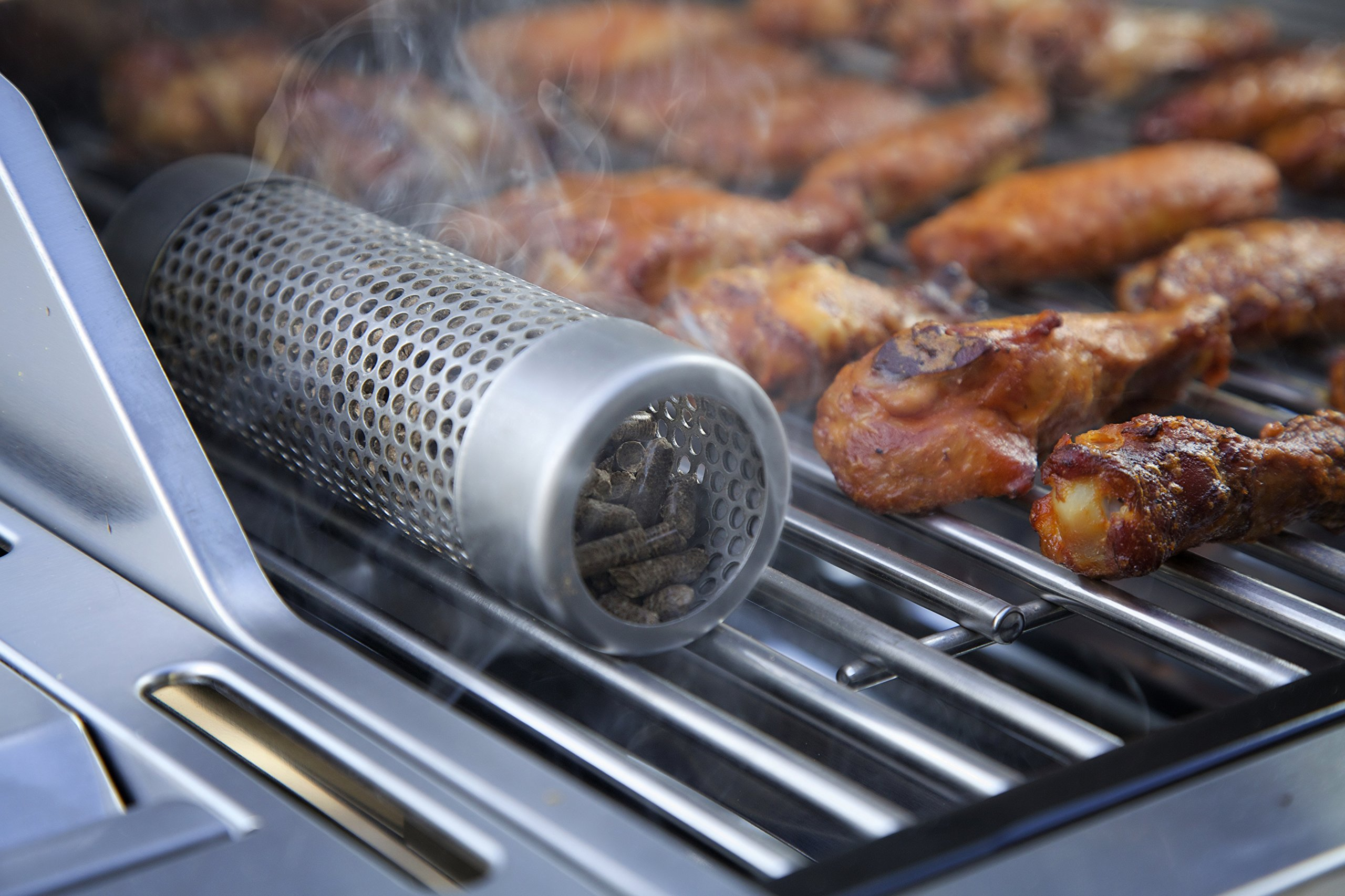 A-MAZE-N Pellet Tube Smoker 6'' filled with 100% Wood BBQ Pellets - Apple