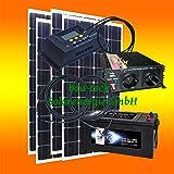 200 watt wohnmobil camping solaranlage 12 volt set pv elektronik. Black Bedroom Furniture Sets. Home Design Ideas