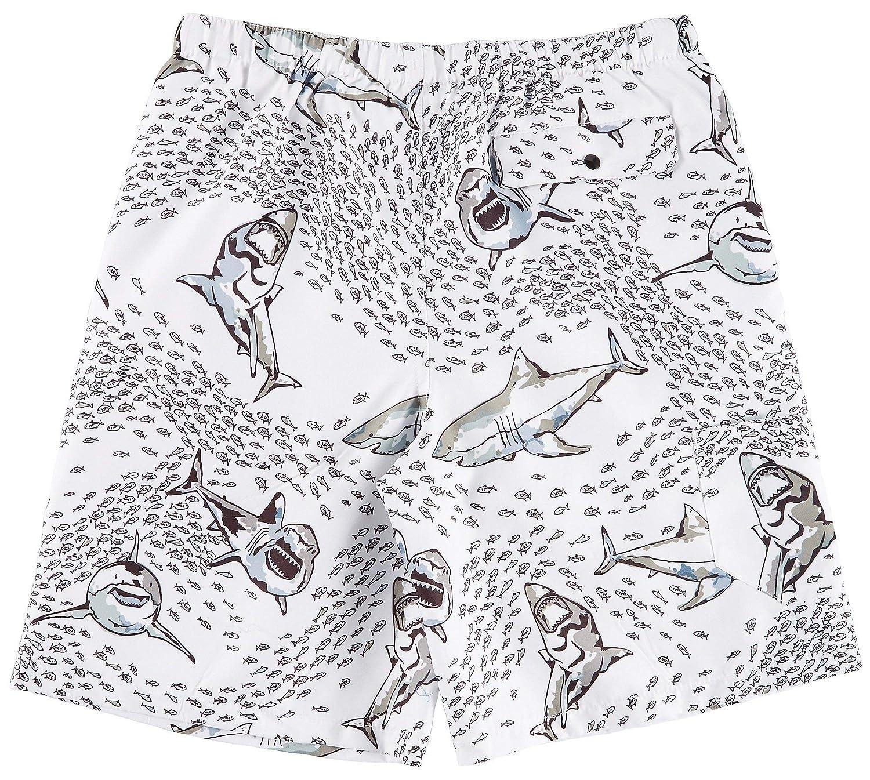 Reel Legends Little Boys Shark Bite Swim Shorts