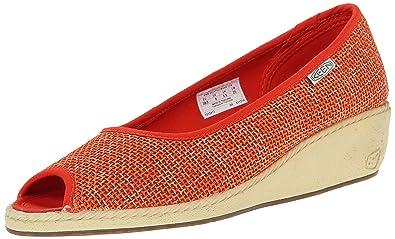 KEEN Women's Cortona Jute Wedge Shoe, Pumpkin, ...